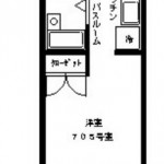バス・トイレが別になった1R!(間取)