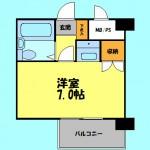 洋室7帖と広めのワンルームです!(間取)