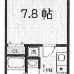 独立洗面室付の快適な1K!(間取)