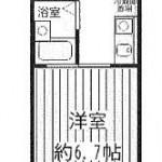 バス・トイレ別で使いやすい1K!(間取)