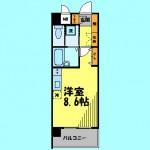 バストイレ別のワンルームタイプ(間取)