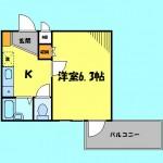 バス・トイレ別の1K!(間取)