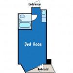 シンプルなワンルームタイプのお部屋です!(間取)