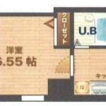 バス・トイレ別の角部屋1Kです!(間取)