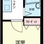 人気の高いバス・トイレ別の1Kタイプ!(間取)