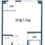 バス・トイレ別のワンルームタイプ!(間取)