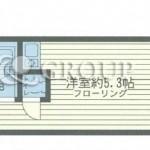 バス・トイレ別のワンルーム!(間取)