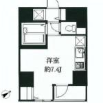 バストイレ別の1Rタイプ(間取)