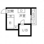 ルーフバルコニー付きの最上階のお部屋!(間取)