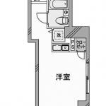 角部屋2面採光のワンルームタイプ(間取)