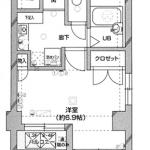 人気のバス・トイレ別1K!(間取)