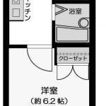 バス・トイレ別の1Kタイプ!(間取)