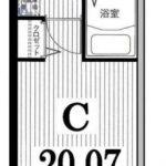 20.07㎡の1Kタイプ!(間取)